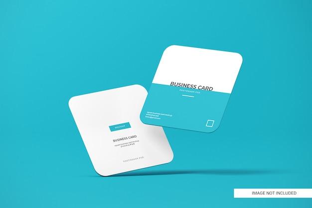 Макет визитной карточки с закругленными углами Premium Psd