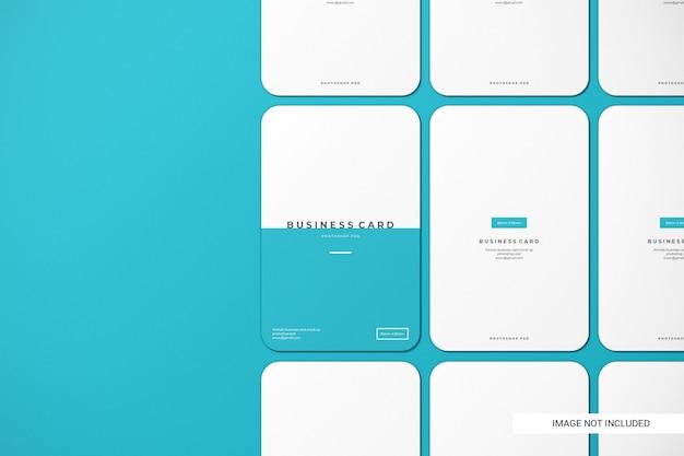 Закругленный макет визитки Premium Psd