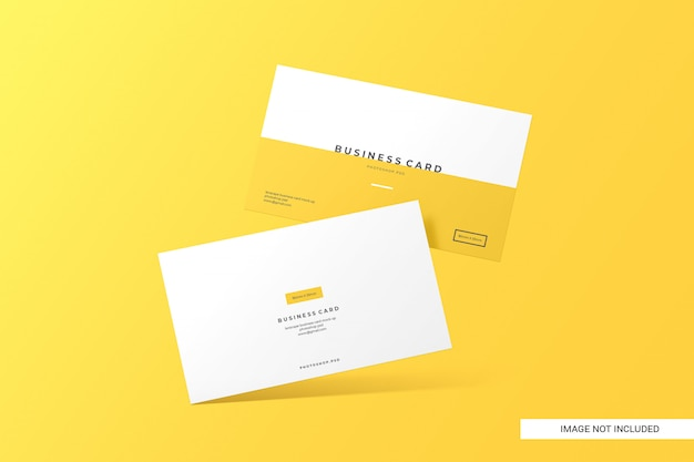Креативный визитная карточка макет Premium Psd