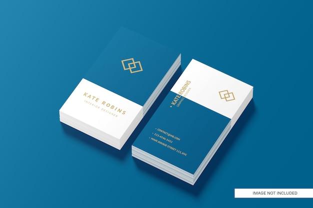 Портрет макет визитной карточки Premium Psd
