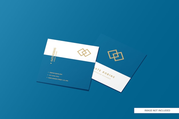 Квадратный макет визитки Premium Psd