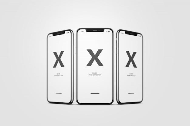 Макет мобильного телефона Premium Psd