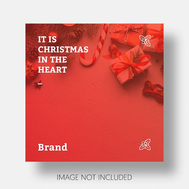 クリスマスソーシャルメディア投稿テンプレートの図 無料 Psd