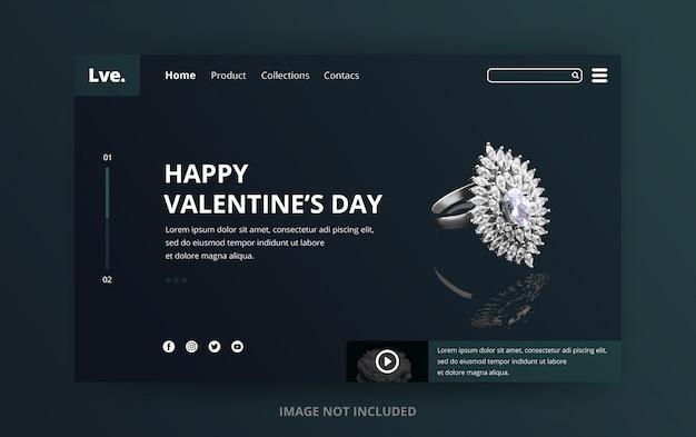 バレンタインデーのランディングページ Premium Psd