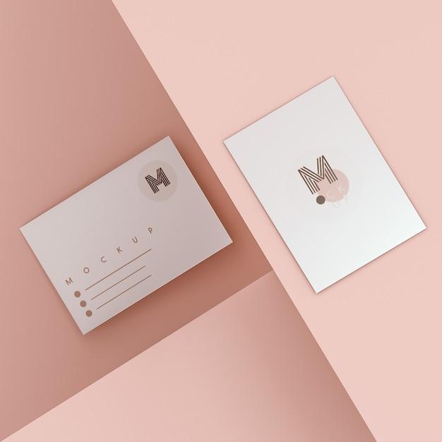 Элегантный макет визитки Бесплатные Psd