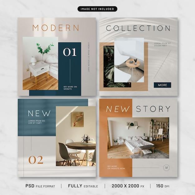 モダンな家具の投稿テンプレートコレクション Premium Psd