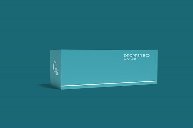 ドロッパーボトルボックス包装モックアップ Premium Psd