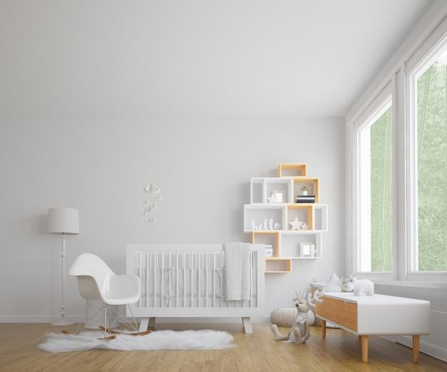 Детская комната с белой подсветкой Бесплатные Psd