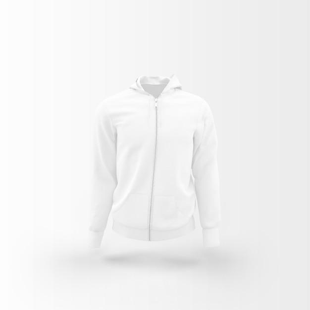 白に浮かぶ白いジャケット 無料 Psd