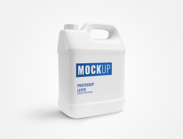 Макет бутылки белого галлона Premium Psd