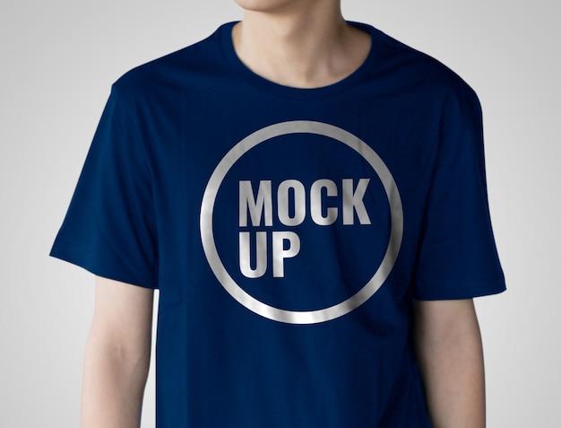 Макет синей рубашки Premium Psd