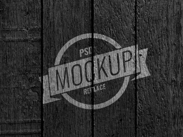 Черная деревянная стена винтажный макет Premium Psd