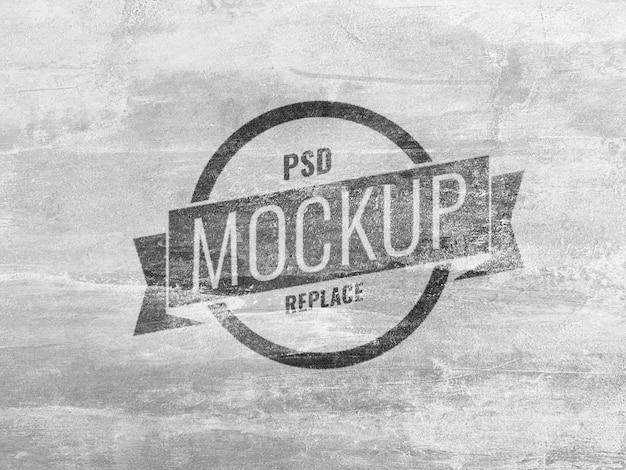 Макет белой стены с логотипом Premium Psd