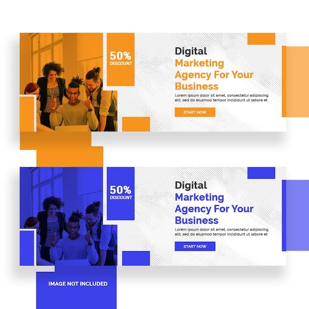 Цифровой маркетинг дизайн баннера в фейсбуке Premium Psd