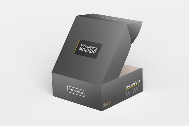 横型ボックス包装モックアップ Premium Psd