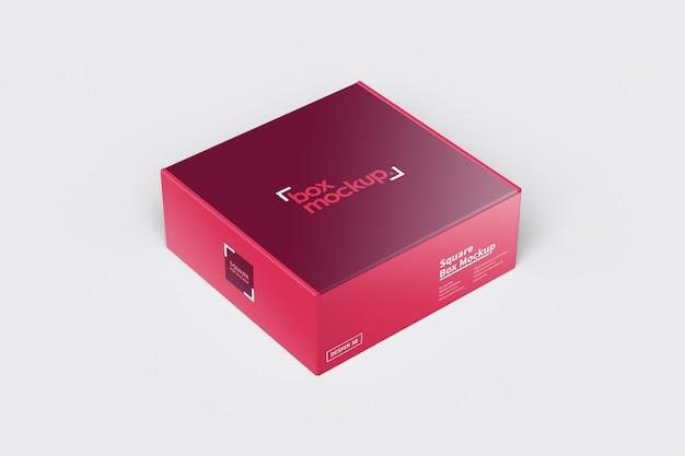 スクエアボックス包装モックアップ Premium Psd