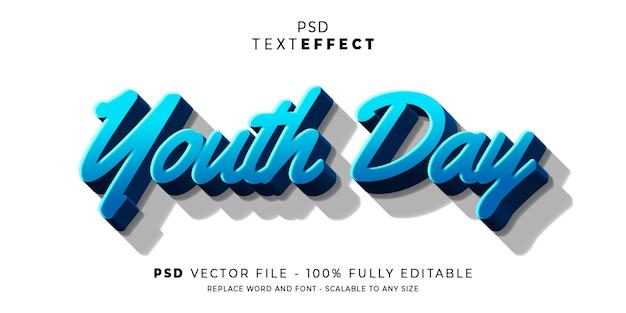 青春テキストとフォント効果スタイル Premium Psd