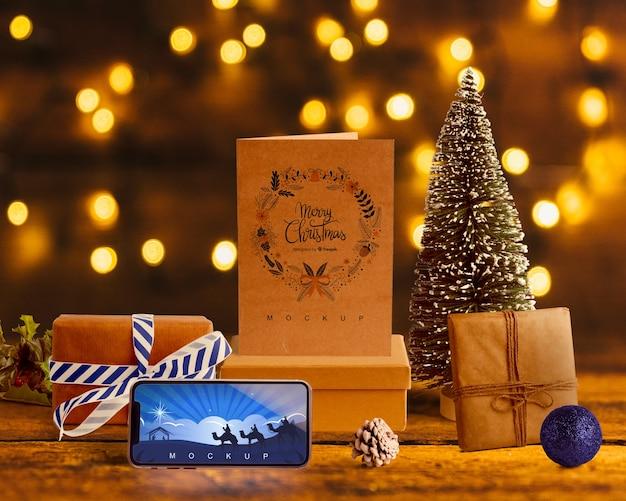 クリスマスコンセプトのシーンクリエーターモックアップ 無料 Psd