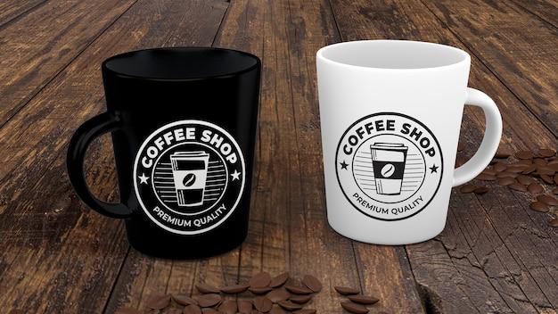 コーヒーマグモックアップ 無料 Psd