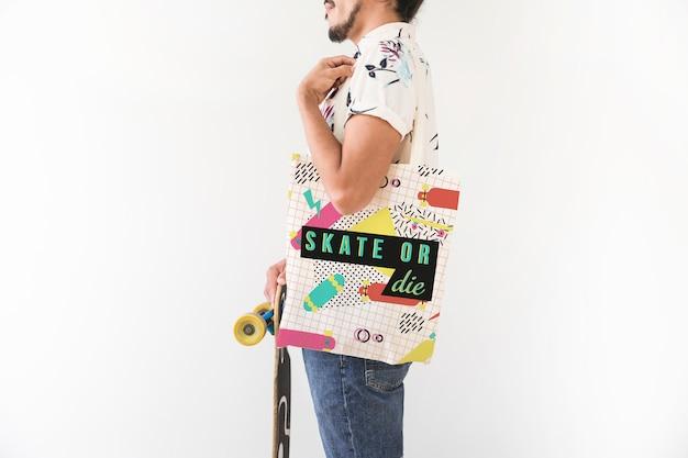 現代の買い物袋モックアップ 無料 Psd