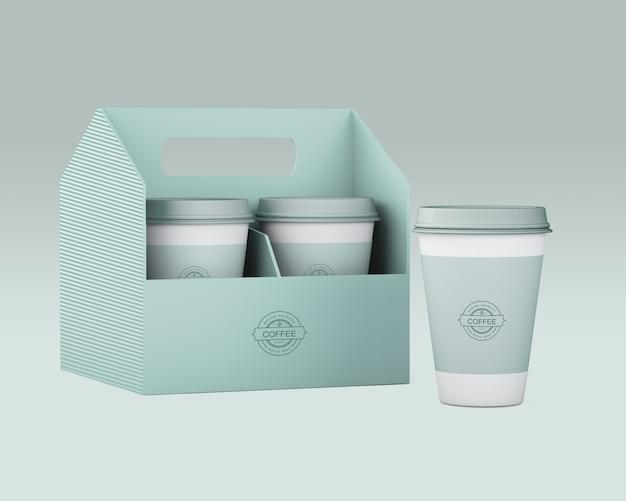 紙のコーヒーカップのモックアップ 無料 Psd