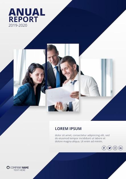 Современный годовой отчет макет Бесплатные Psd