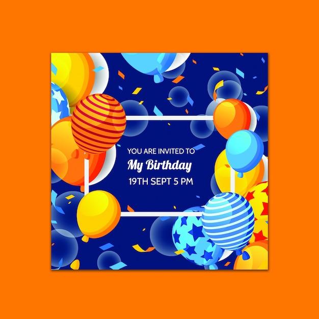 Красивый шаблон поздравительной открытки Бесплатные Psd