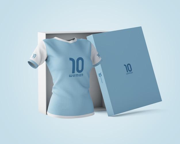 Макет спортивной рубашки с логотипом бренда Бесплатные Psd