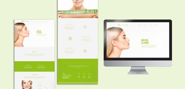 美しさの概念とウェブサイトテンプレートコレクション 無料 Psd