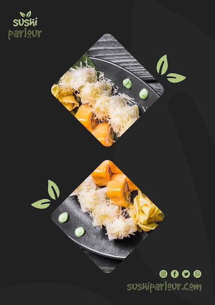 Шаблон веб-баннера для японского ресторана Бесплатные Psd