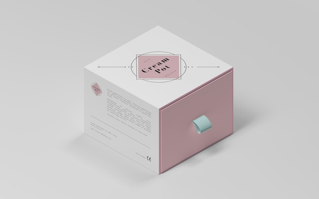 化粧品のピンク包装 無料 Psd