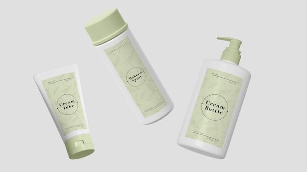 化粧品のグリーン包装 無料 Psd