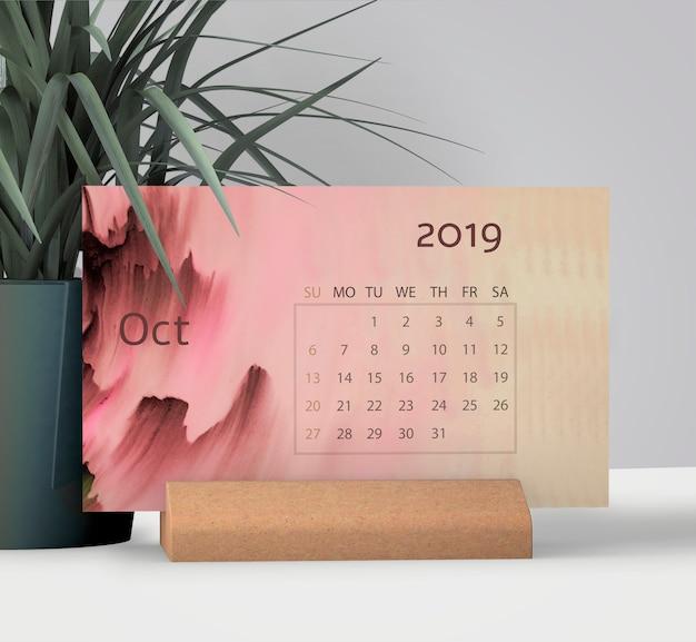 Макет рисованной календарь Бесплатные Psd