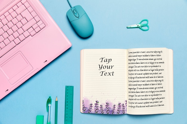Концепция столешницы с открытой книгой Бесплатные Psd