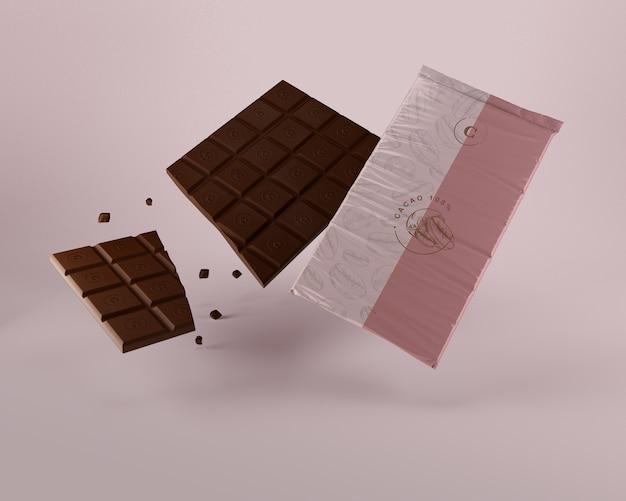 チョコレートタブレット用ラップ 無料 Psd