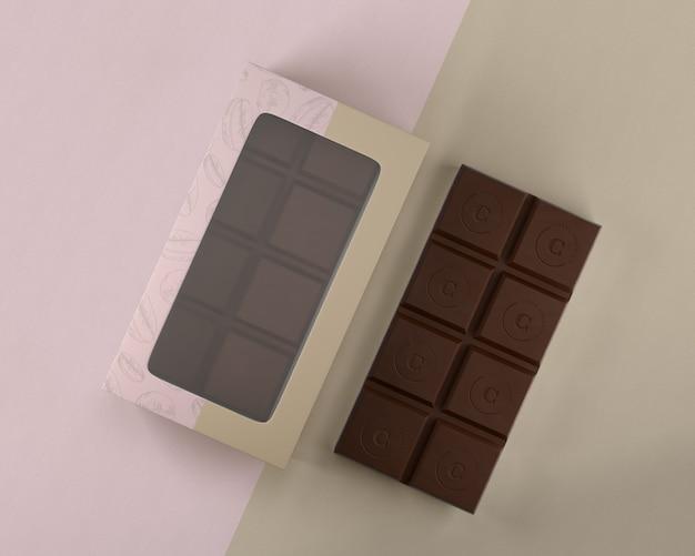 チョコレートボックスデザインのモックアップ 無料 Psd