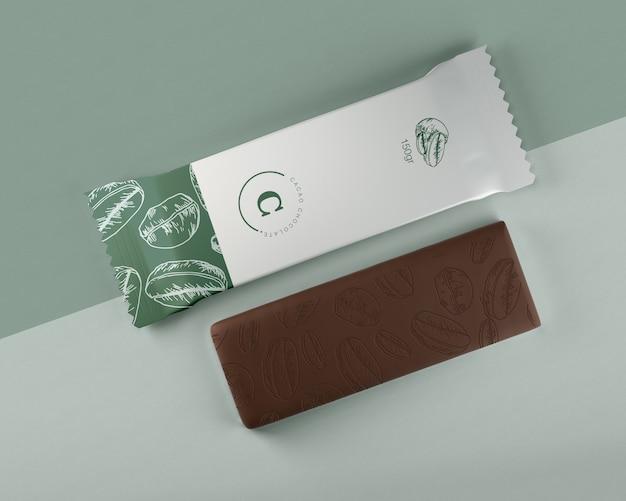 チョコレートバーのプラスチック包装 無料 Psd