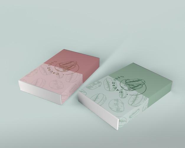 Коробка шоколадного дизайна макет Бесплатные Psd
