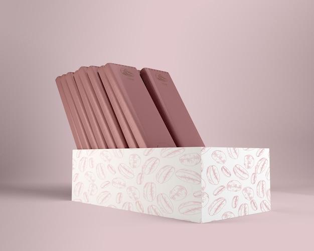 チョコレートの紙の包装と箱のデザイン 無料 Psd