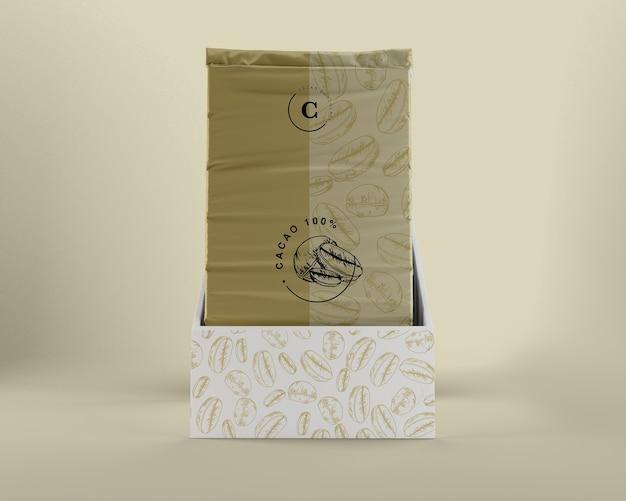 チョコレートと箱のデザインのためのプラスチック包装 無料 Psd