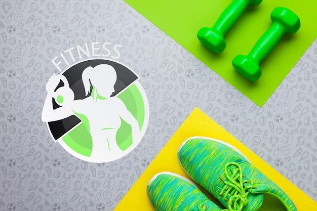 Тренажеры для фитнеса и веса Бесплатные Psd