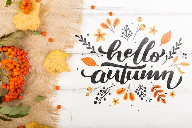 Приветственное сообщение нового осеннего сезона Бесплатные Psd