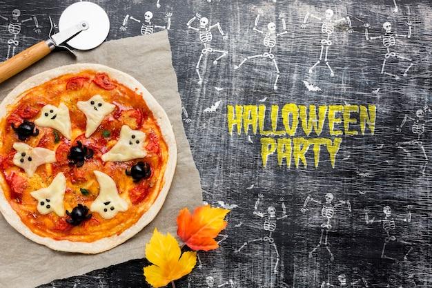 ハロウィーンのピザは特定の日を扱います 無料 Psd