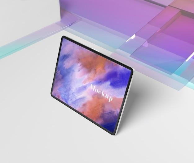 タブレットで透明なガラスの形状 無料 Psd