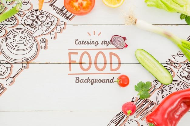 モックアップの新鮮な有機野菜 無料 Psd