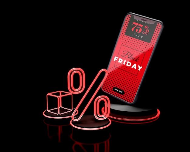 Специальное предложение для смартфонов в черную пятницу Бесплатные Psd