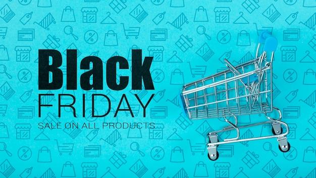 Представительная корзина для покупок в черную пятницу Бесплатные Psd