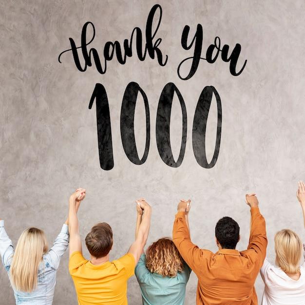 Спасибо подписчикам с аплодисментами Бесплатные Psd