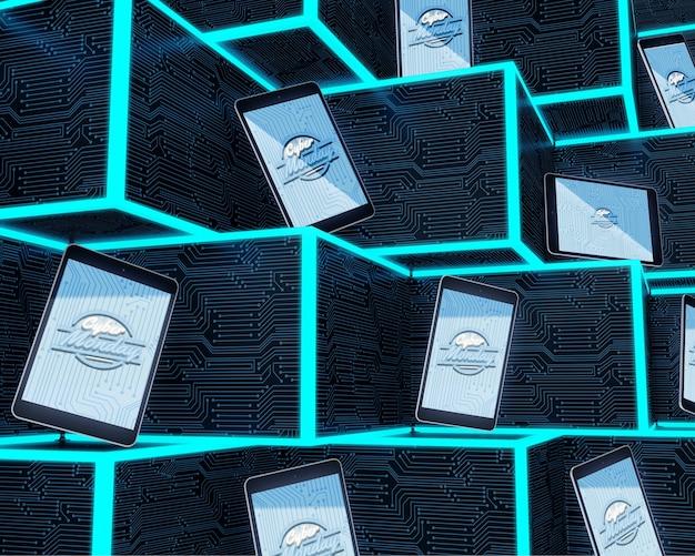 ハイテクタブレットの未来的なコンセプト 無料 Psd