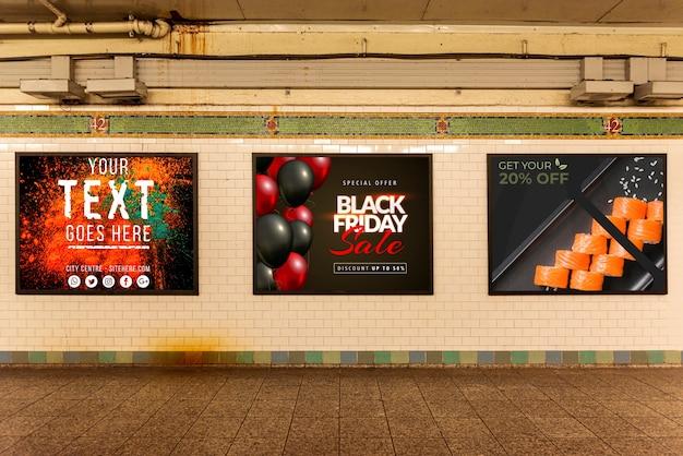 Коллекция макетов рекламных щитов Бесплатные Psd